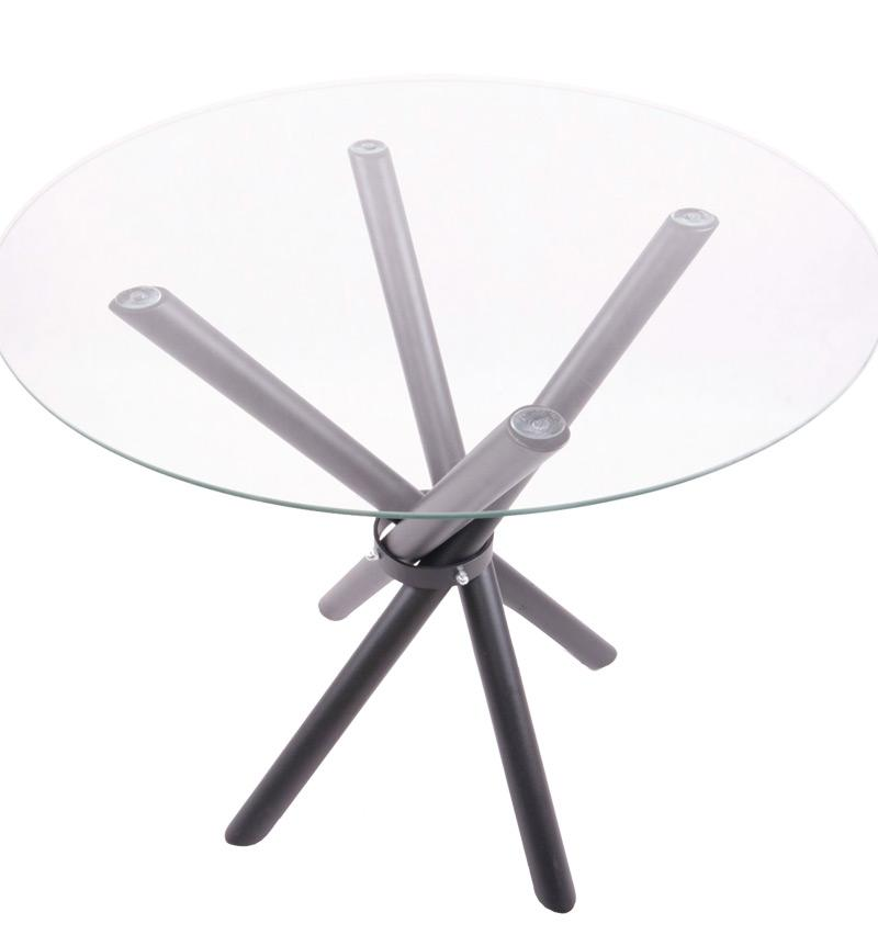 Stół z blatem szklanym